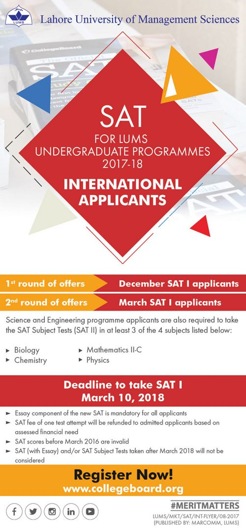 SAT International  Flyer