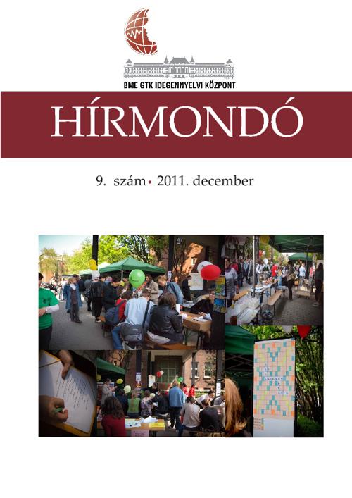 Hírmondó 9. szám  2011