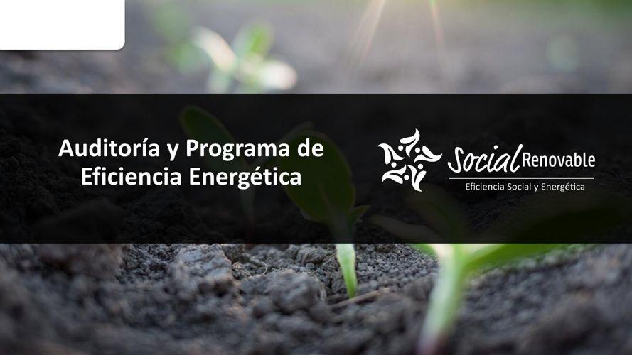 Auditoría y Programa de Eficiencia Energética