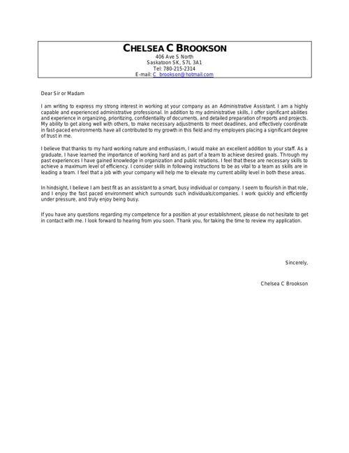 Chelsea C Brookson Cover Letter