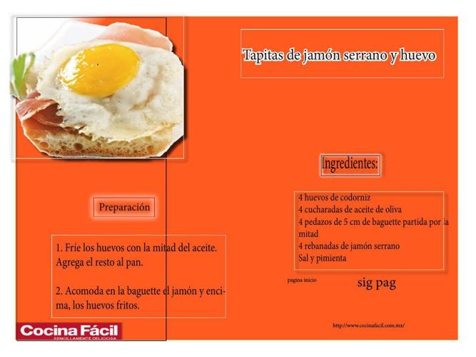 receta cocina A PUNTO DE TERMINAR 100 por ciento