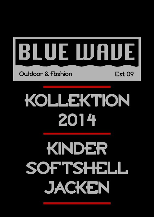 KINDER SOFTSHELLJACKEN BLUE WAVE KATALOG 2014