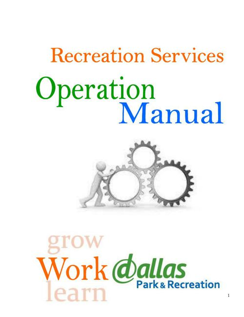 Recreation Operations Manual