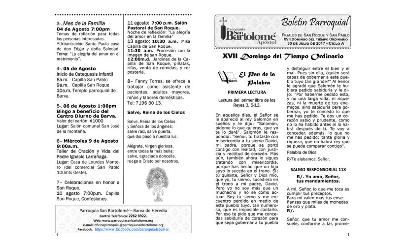 Boletín 30 de Julio