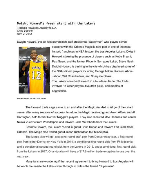Dwight Howard's fresh start with the Lakers