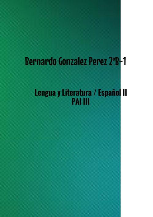 8) Bernardo González Pérez 2ºB-1 Artículo Argumentativo