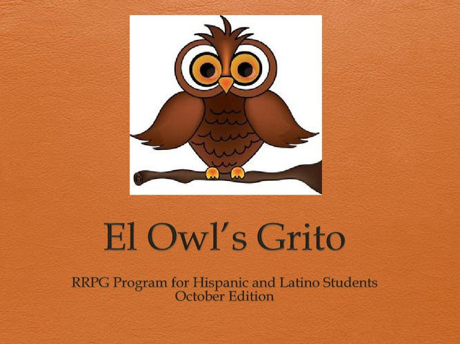 RRPG The Owl's Grito November Newsletter