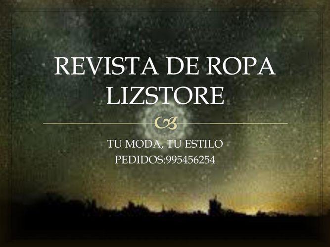 REVISTA DE ROPA LIZSTORE