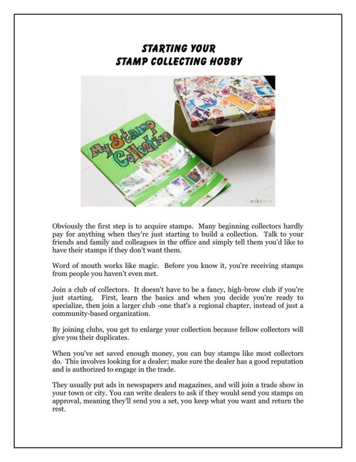 Starting Your Stamp Collecting Hobby