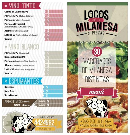 Menu Locos por La Milanesa & Pastas * NQN
