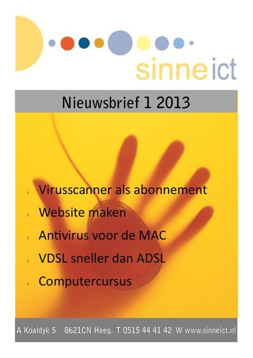 Sinne ICT nieuwsbrief 1