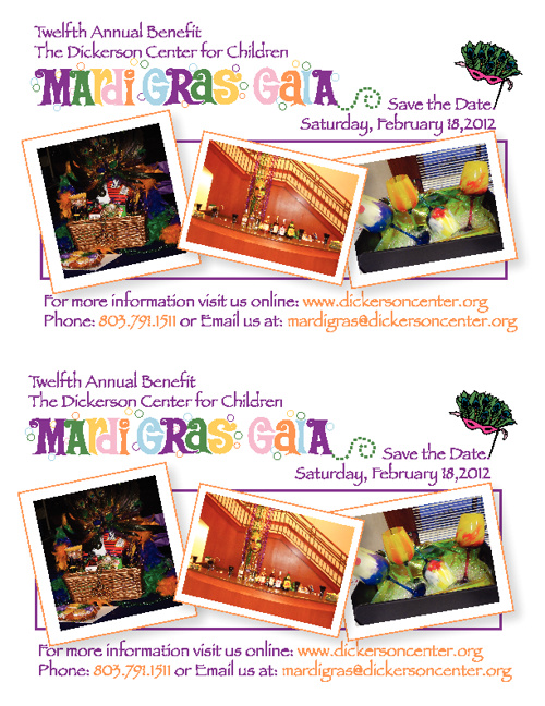 Mardi Gras 2012 - Save the Date Flyer