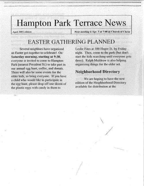 HPT Newsletter April 2005