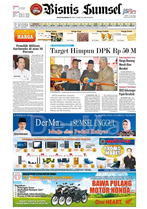Radar Palembang Edisi 15-03-2013 Koran 2