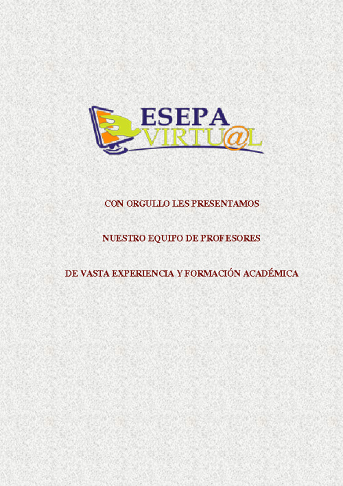 Profesores Esepa