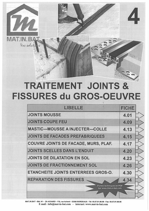 Traitement Joints & Fissures