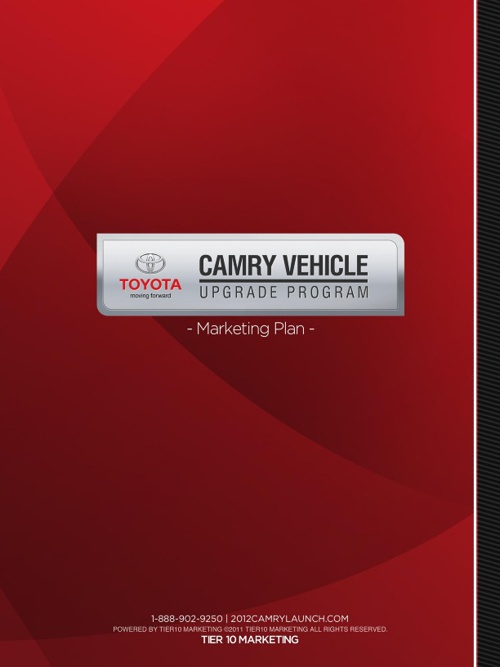 2012 Camry Launch Vehicle Upgrade Program Planner
