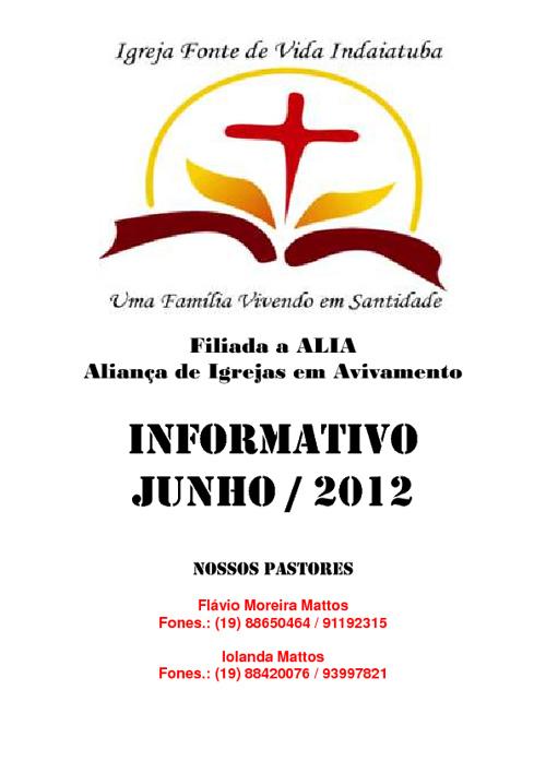 Boletim Informativo Junho de 2012