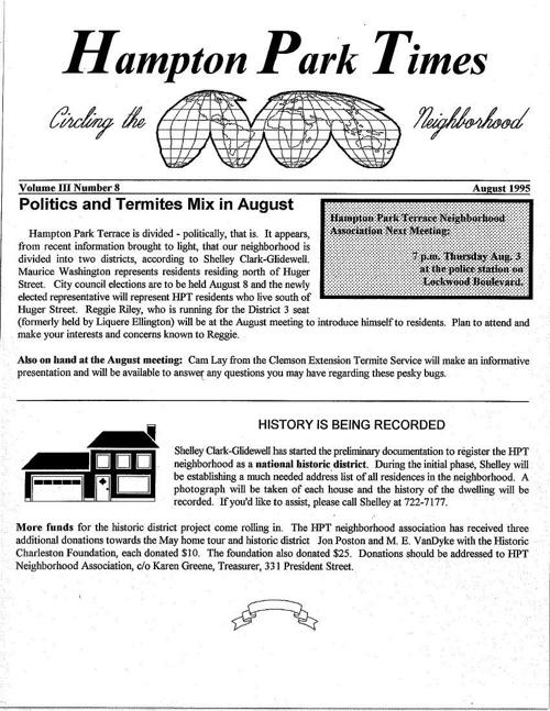 HPT Newsletter August 1995