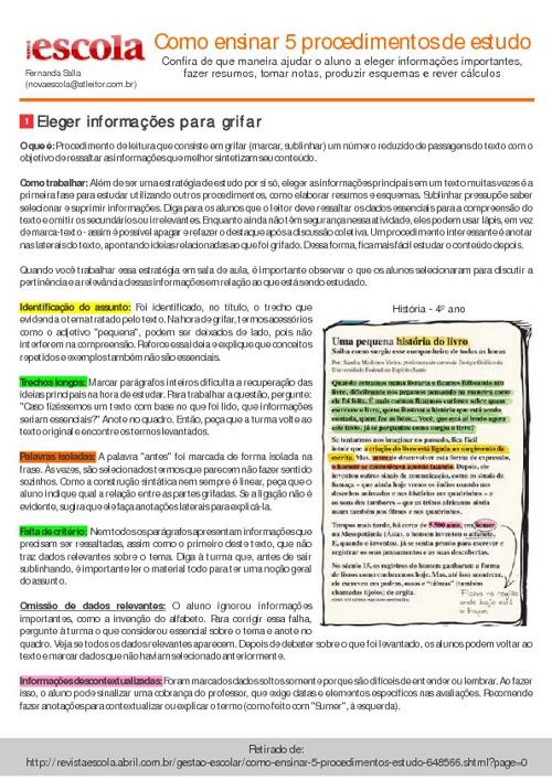 5 procedimentos de estudo