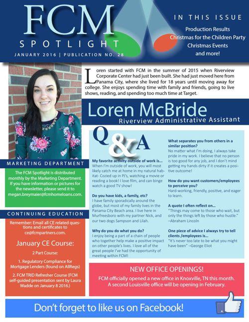 January 2016 FCM Spotlight