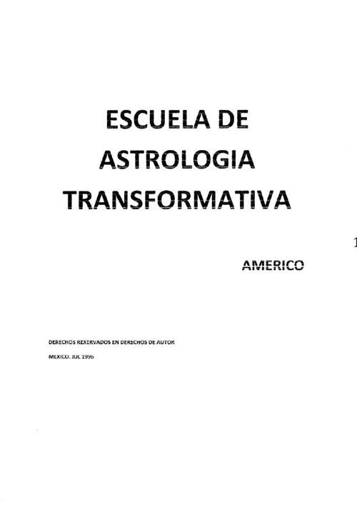 Escuela de Astrologia Transformativa
