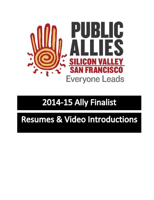 2014-15 Ally Finalist Resumes