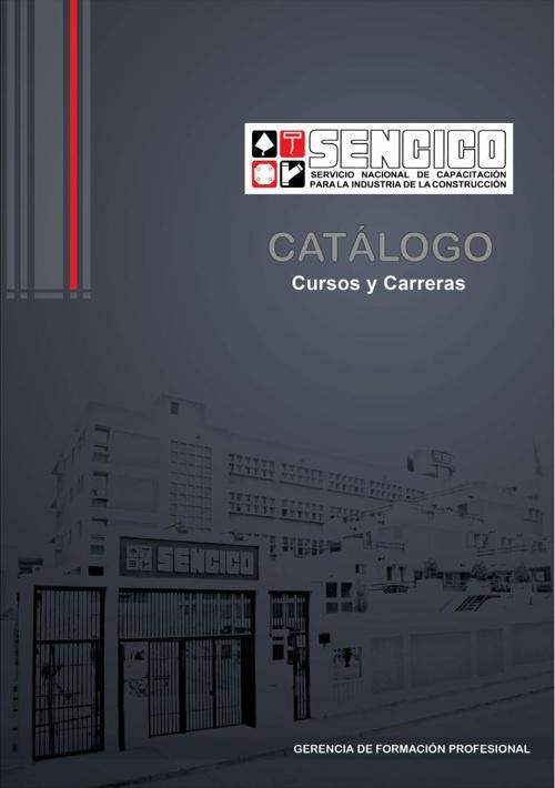 CATÁLOGO DE CURSOS Y CARRERAS SENCICO