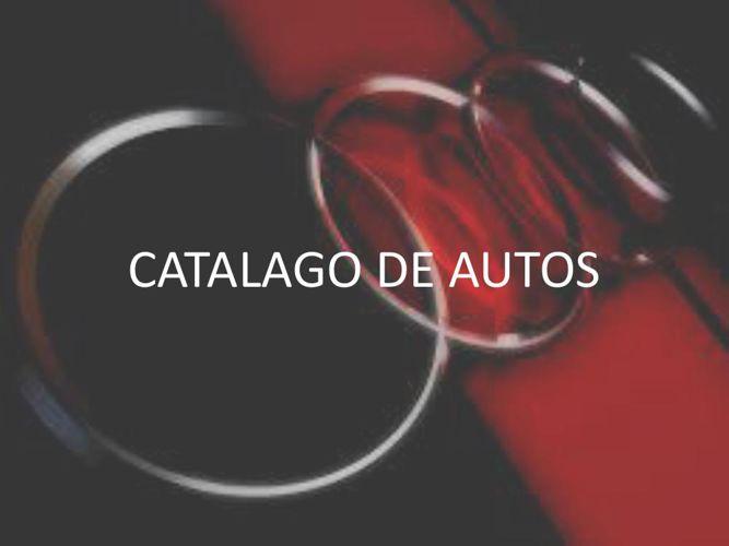 CATALAGO DE AUTOS
