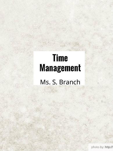 Time Management Activity