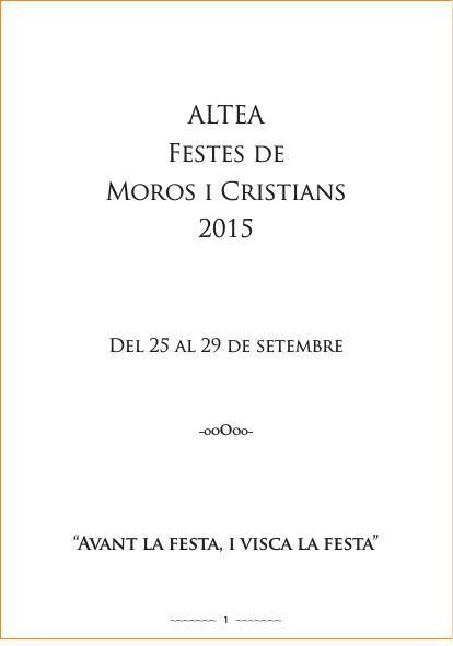 Llibret del Fester 2015