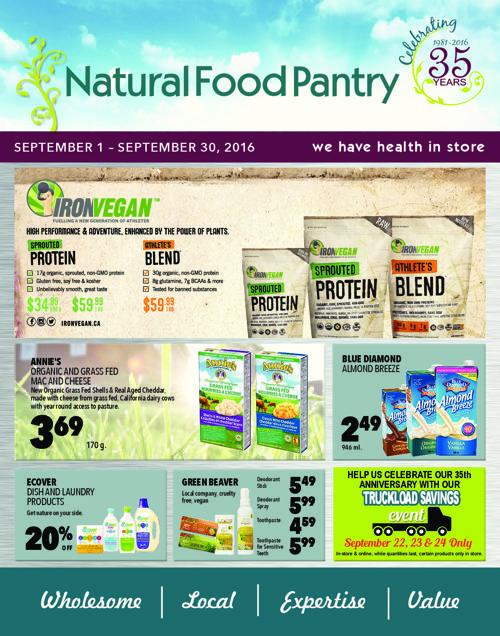 NATURAL FOOD PANTRY SEPTEMBER FLYER