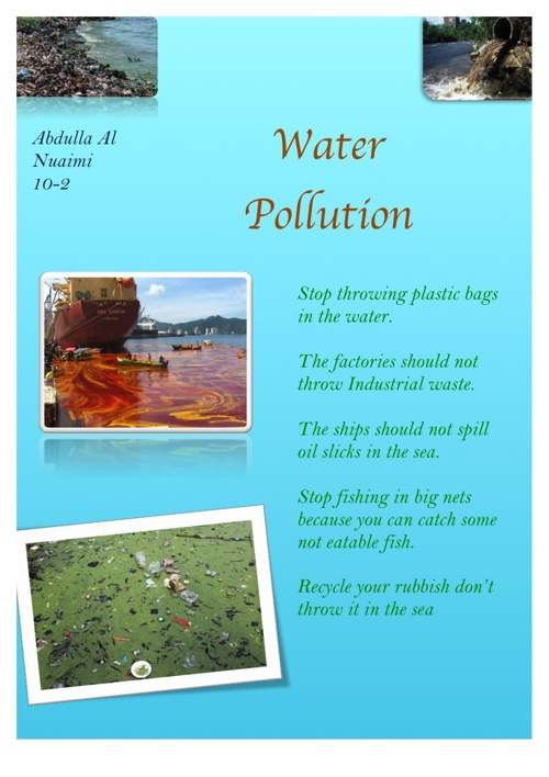 Water Pollution Abdulla Al Nuaimi 10-2
