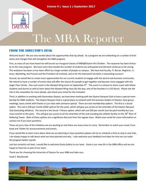 MBA Newsletter - September 2017