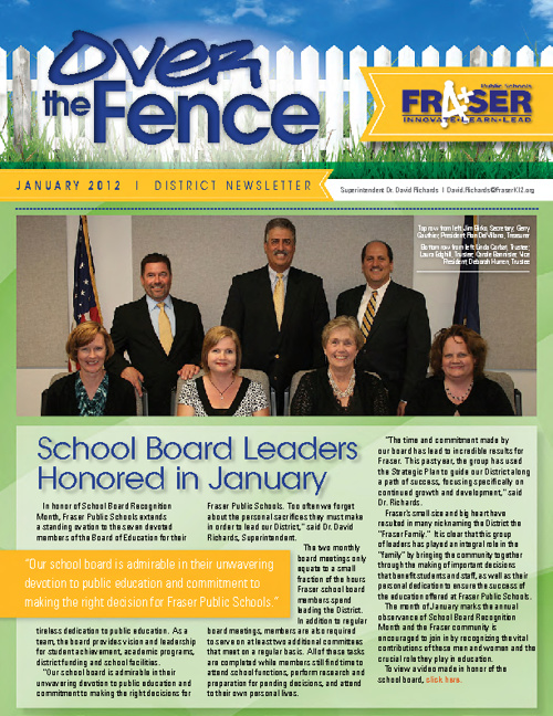 January 2012 Over the Fence District Newsletter