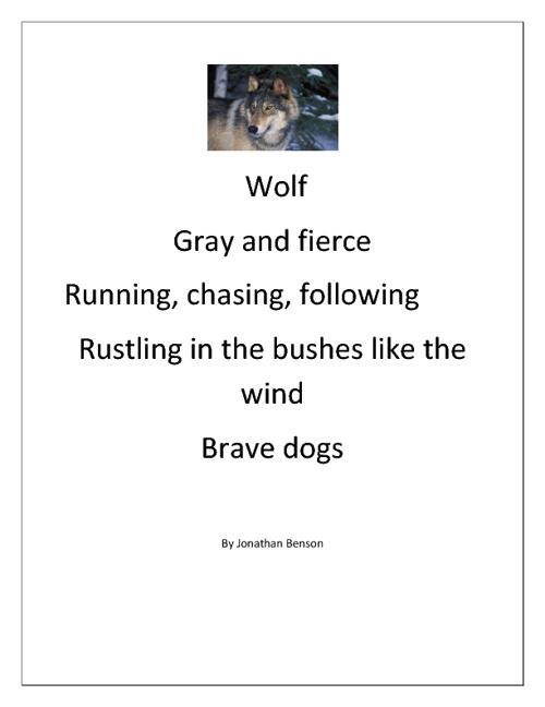 Mrs. Nicolai's 3rd Grade Cinquain Poems- Media Project
