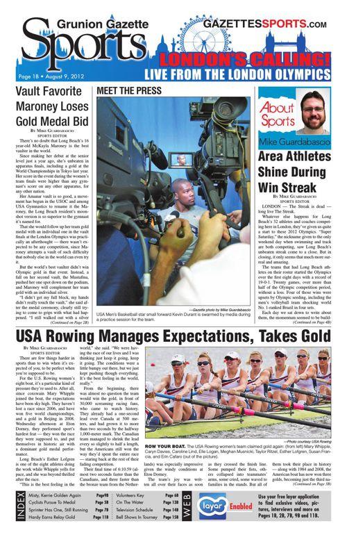 Gazette Sports | August 9, 2012