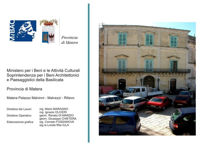 Matera - Palazzo Malvinni-Malvezzi - Rilievo