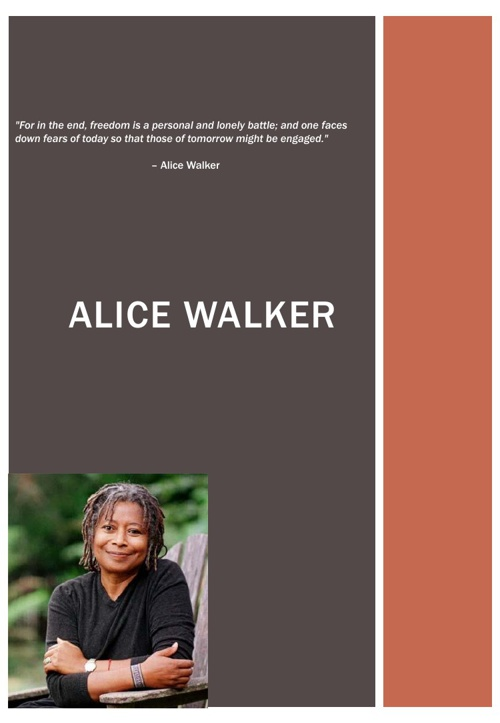 "the early life and works of alice walker Start by marking ""alice walker: a life alice walker's life is but maybe few of us were aware of her work as an editor in college and in her early adult life."