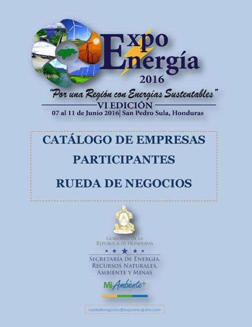 Catálogo Rueda de Negocis Expo Energia 2016