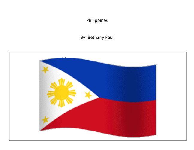 Bethany:  Philippines