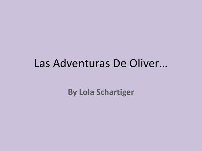 Las Aventuras de Oliver