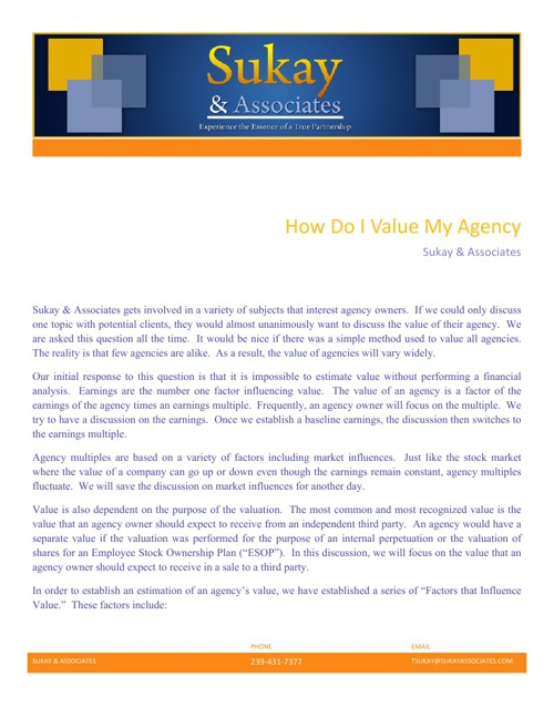 How Do I Value My Agency Witepaper