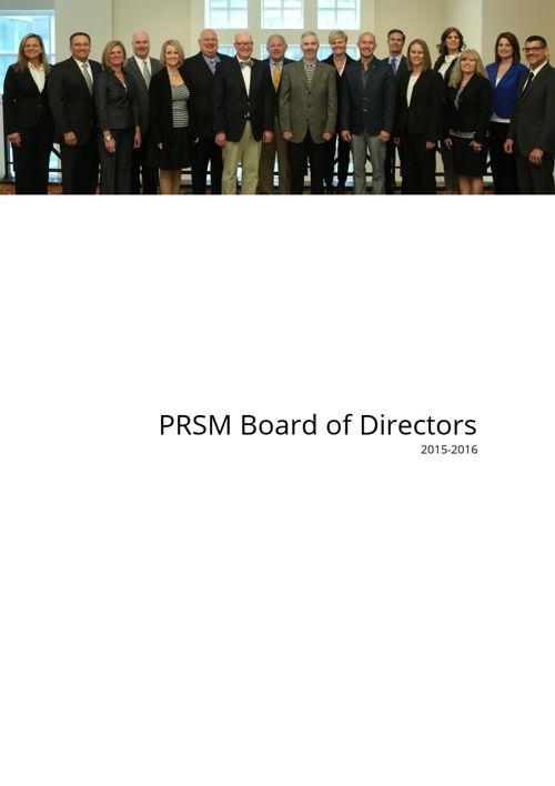 2015-2016 PRSM Board of Directors