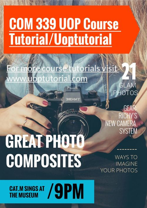 COM 339 UOP Course Tutorial/Uoptutorial
