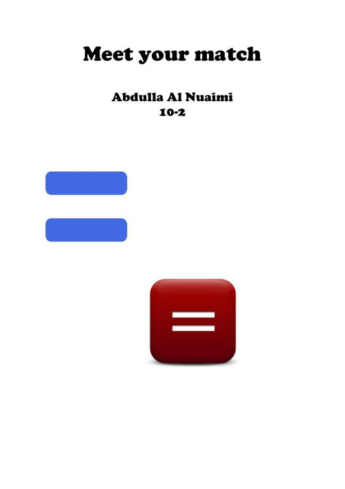 Meet your match Abdulla Al Nuaimi 10-2
