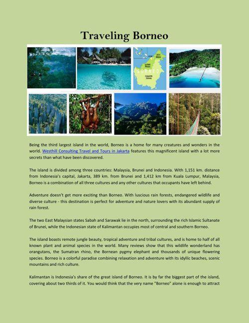 Traveling Borneo