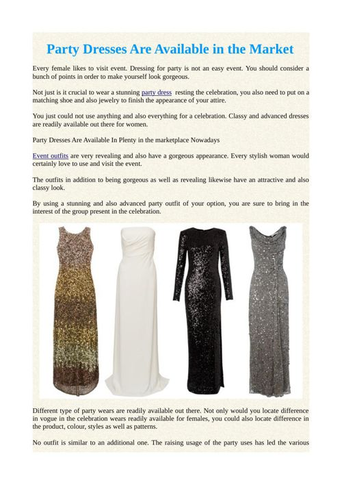 Party Dresses Are Available in the Market