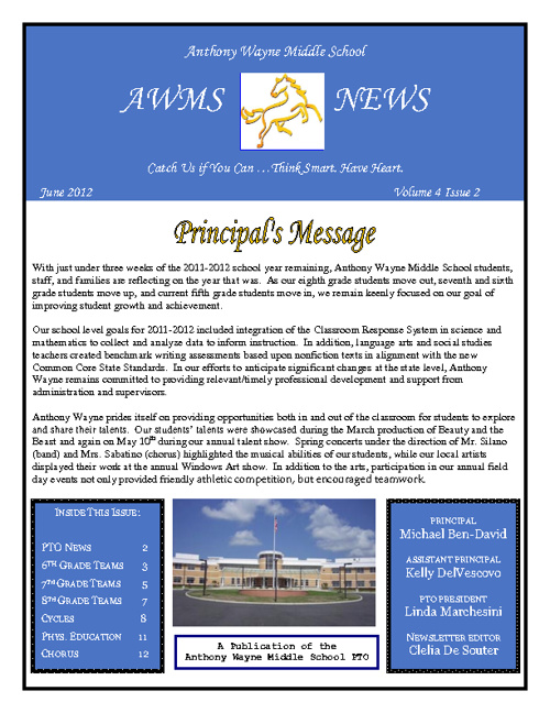 AWMS June 2012 Newsletter