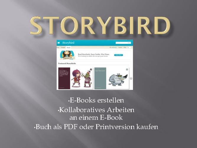 storybird Anleitung